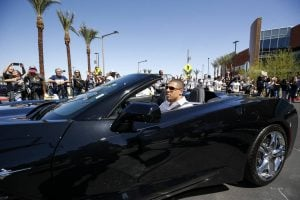 Ryan during an event Ceremony arriving in his car.