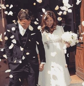 Mirka and Roger during their marriage ceremony.