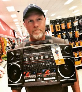 Steve with buying a music player for his son