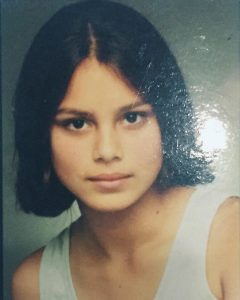 Nathalie during her high school days.