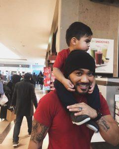 Alex with his baby boy Alonzo