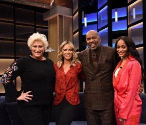Travis's wife Kim is a panelist in Steve Harvey show.