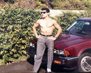 Manny flaunting his body in his early days.