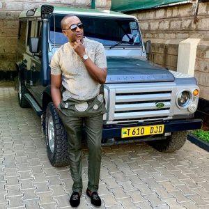 Steve posing infront of his Range Rover.