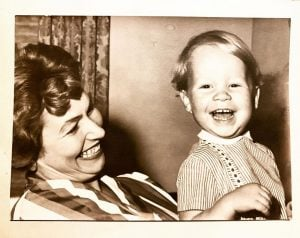 Anthony with his mother Anna when he was three years old.