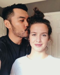 Alex with his special girl which he uploaded in his Social media account