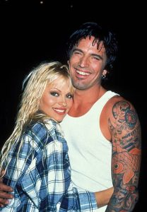 Pamela with her first husband Tommy Lee.
