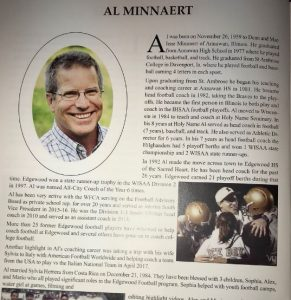 Al Minnaert chosen as one of the Inductee of 2018 WFCA Hall of Fame