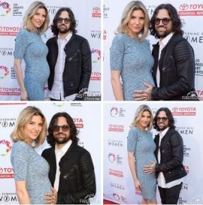 Antonio and Viva (with a baby bump) while attending the Evening With Women 2016