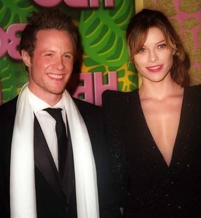Ashton Holmes with his ex-girlfriend
