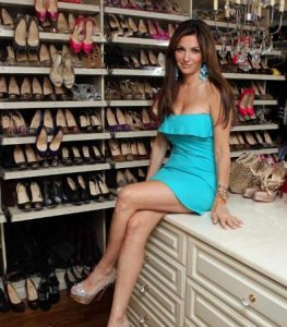 Beth Shak with her $1 Million of Shoe Collection