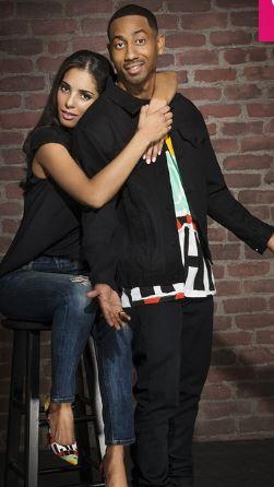 Brandon T. Jackson with his girlfriend