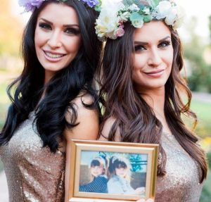 Brittany Pattakos along with her twin sister, Jessica Pattakos