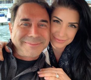 Brittany Pattakos showing off her engagement ring