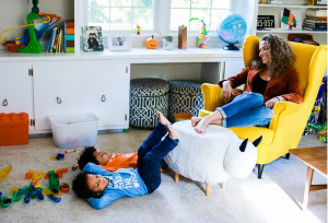 Chanda Gibson Playing with Her Adorable kids.