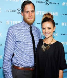 Christine Lakin with her husband, Brandon Breault