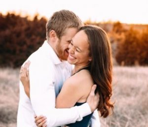 Cole Beasley with his wife, Krystin Beasley