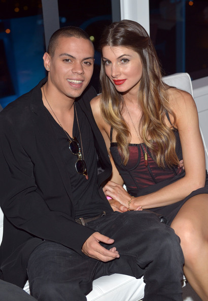 Cora Skinner with her ex-boyfriend Evan Ross