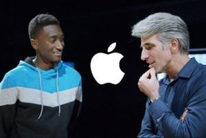 Craig Federighi talking with Marques Brownlee