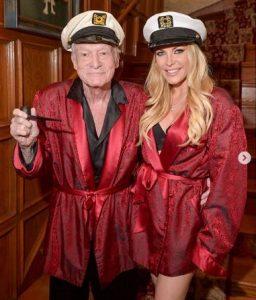 Crystal Harris with her late husband, Hugh Hefner