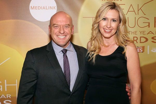 Dean Norris with his wife
