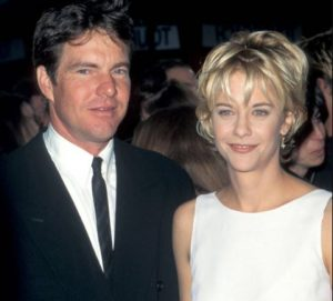 Dennis Quaid with his second former wife, Meg Ryan