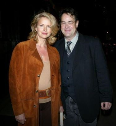 Donna Dixon a with her husband