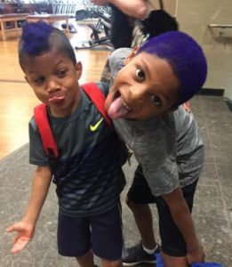 Ducis Rodgers' two sons, Devin (right) and Dylan (left)