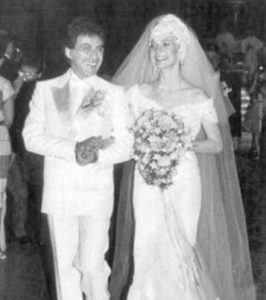 Frankie Valli on the day of his wedding with Mary Mandel