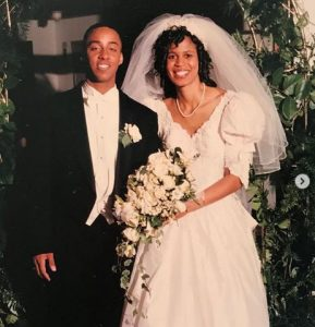Holly Frazier on the day of her wedding with Evan Frazier