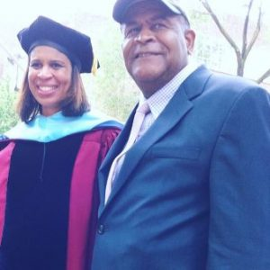 Holly Frazier with her father