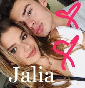 Jack Kelly and his girlfriend, Talia Papantoniou