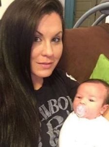 Jennifer Brennan with her second son