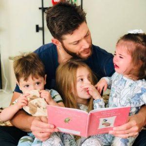 Jensen Ackles with his three children