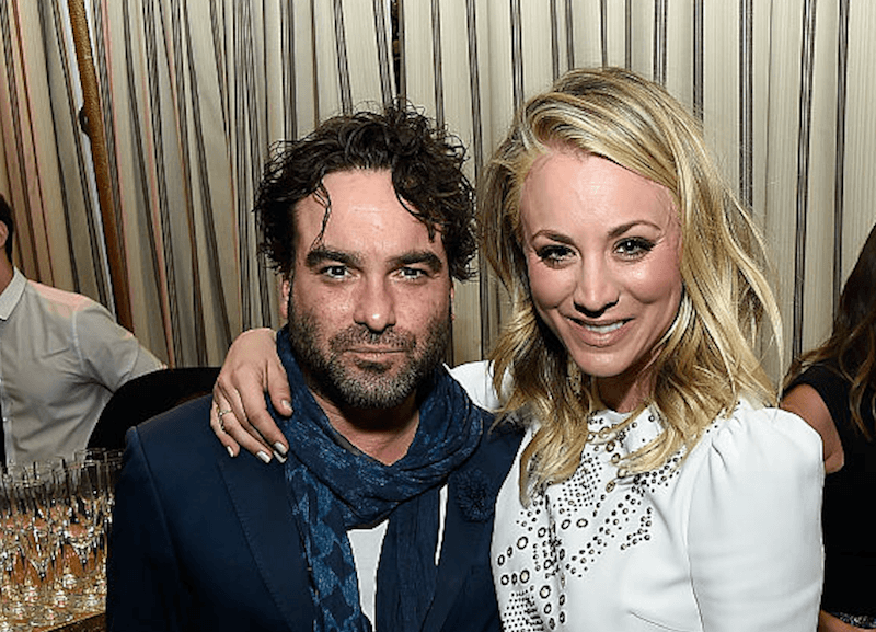 Johnny Galecki and Kaley
