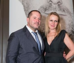 Jony Ive with his wife, Heather Pegg Ive