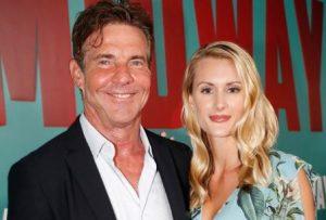 Laura Savoie with her fiance, Dennis Quaid