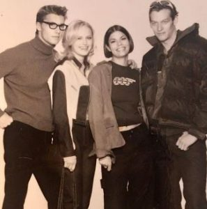 Malin Akerman modeling in Toronto during the 90s