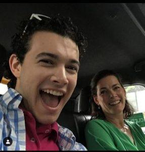 Matthew Soloman with his mother, Nancy Karrigan