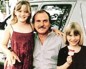 Kate Winslet with her father, Roger Winslet, and sister, Beth Winslet