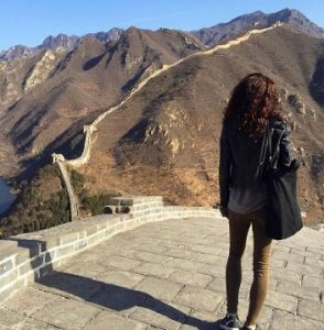 Nina Lisandrello visited the Great Wall of China in 2016