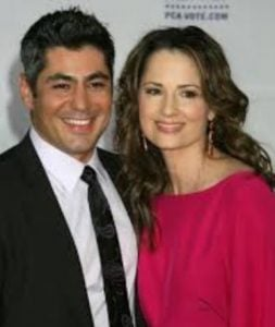 Paula Marshall with her husband, Danny Nucci