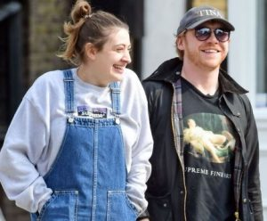 Rupert Grint with his partner, Georgia Groome