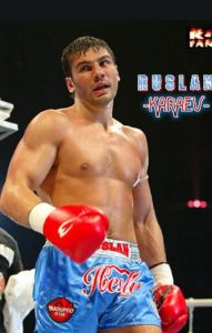 Ruslan Karaev as a professional boxer