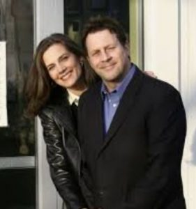 Terry Farrell with her ex-spouse, Brian Baker