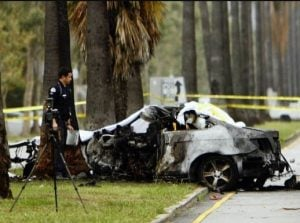 The car crash of Michael Hastings on 18 June 2013