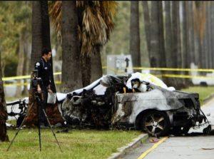 The car crash of Michael Hastings on 18 June 2013