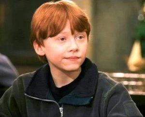 The childhood photo of Rupert Grint