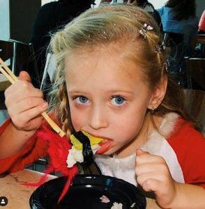 The childhood picture of Sophia Diamond