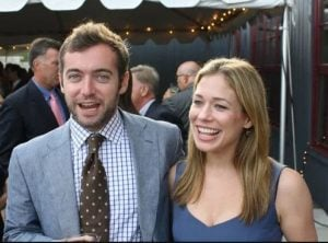The late Michael Hastings with his widow wife, Elise Jordan